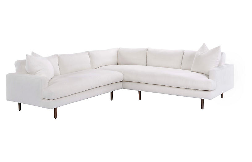 Alli Sectional, Ivory Linen