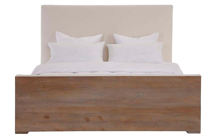 Kinney Bed, Ivory Linen