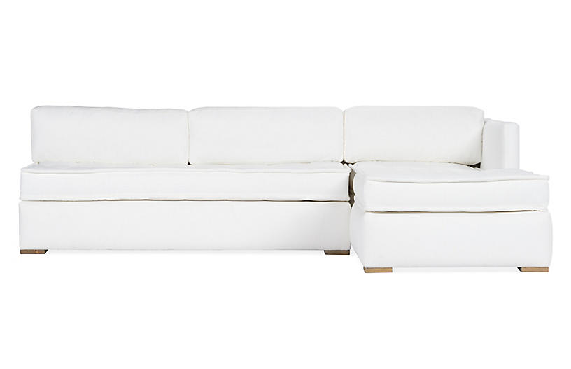 Lane Right-Facing 2-Pc Modular Sectional, White