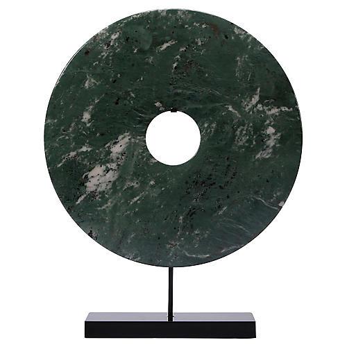 Disk Statue, Green