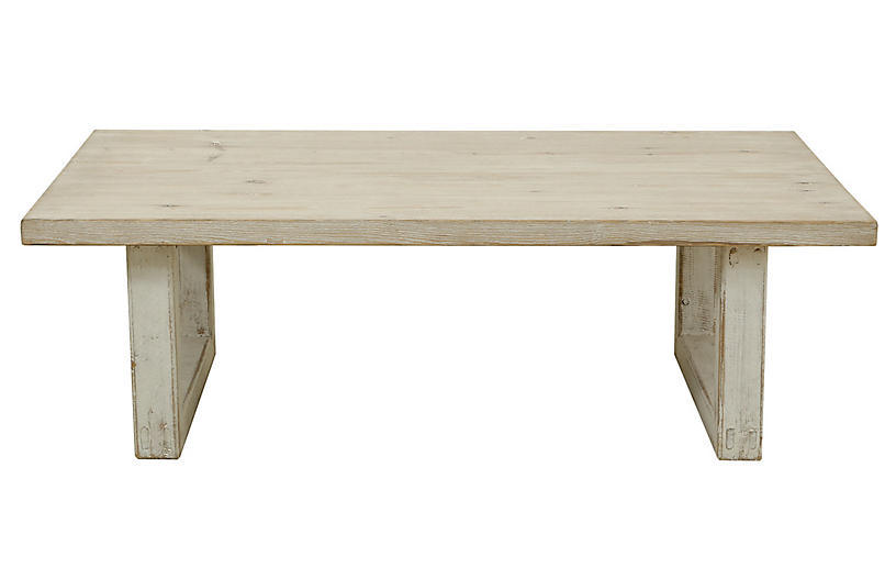 Cato Coffee Table, Natural White