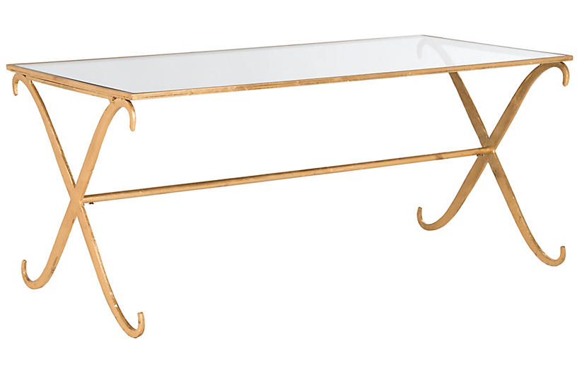 Surrey Coffee Table Gold One Kings Lane