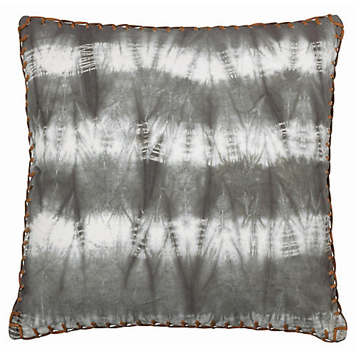 Tie-Dyed 20x20 Pillow, Gray