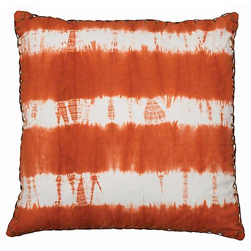 Tie-Dyed 20x20 Pillow, Tangerine