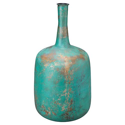 """24"""" Zeus Vase, Verdigris/Copper"""