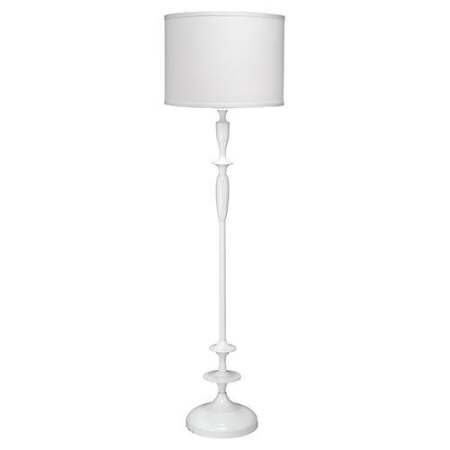 Paro Petite Floor Lamp, White