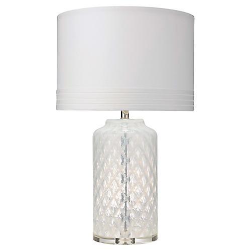 Diamond Table Lamp, Clear
