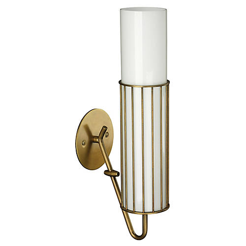 Torino Sconce, Antiqued Brass