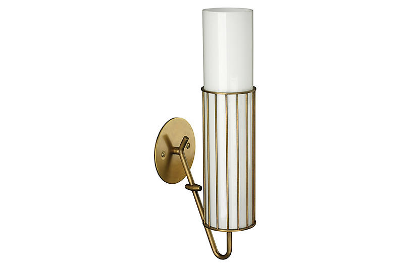 Torino Sconce, Antiqued Brass