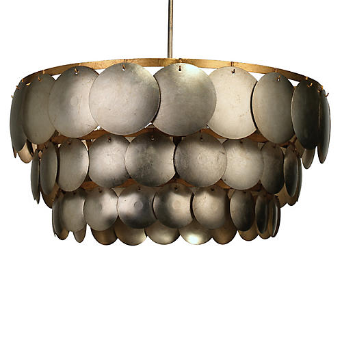 Calypso Three-Tier Chandelier, Champagne Leaf