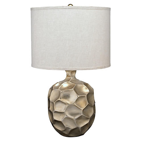 Fossil Table Lamp, Champagne Leaf