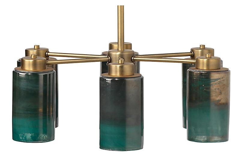 Vapor Chandelier, Antiqued Brass