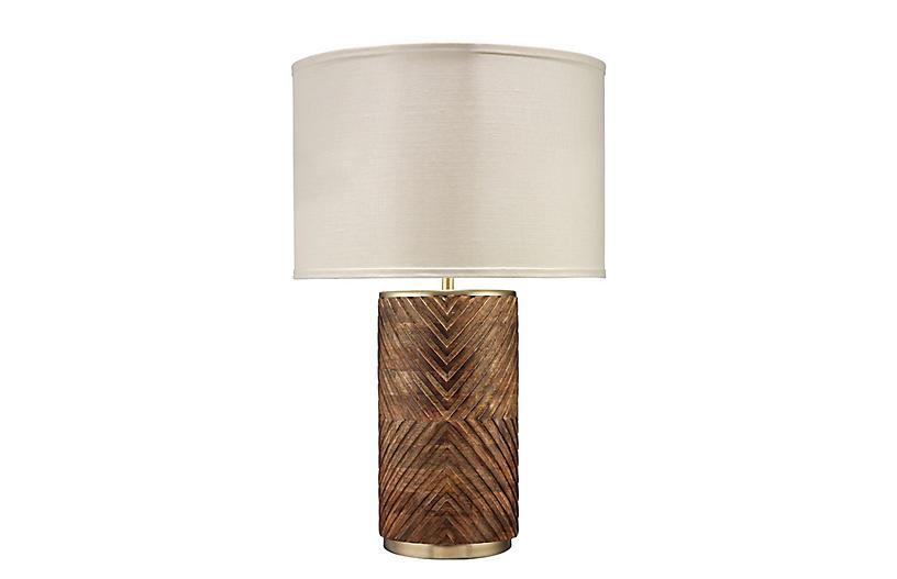 Refinery Table Lamp, Mango Wood