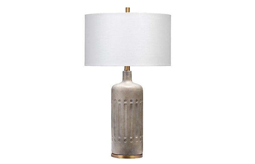 Annnex Table Lamp, Grey Cement