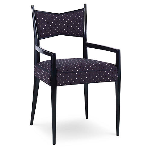 Georgia Armchair, Black/Cream
