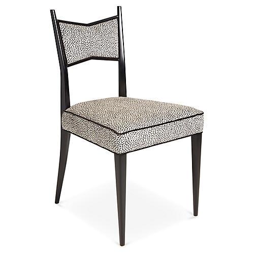 Georgia Side Chair, Onyx Velvet