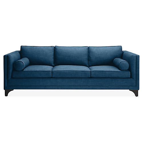 Downing Bolster Sofa, Denim