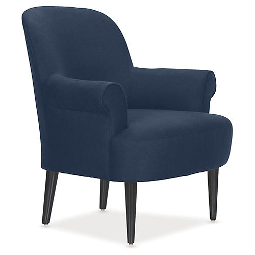 Pierce Accent Chair, Indigo