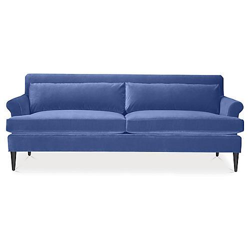 Pierce Sofa, Cobalt Velvet