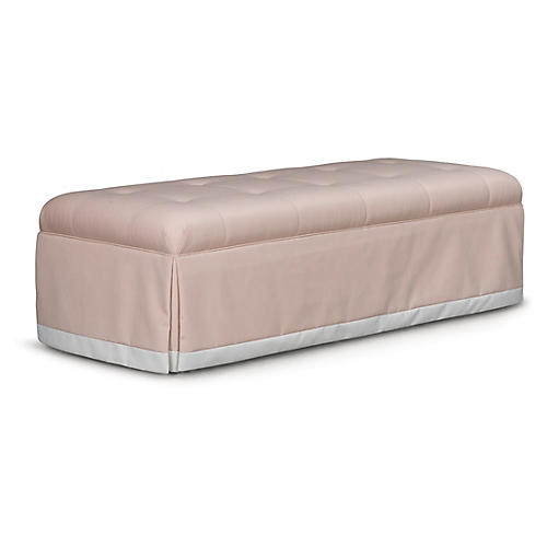 Perch Bench, Pale Pink