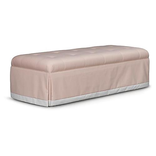 Perch Bench, Pale Pink