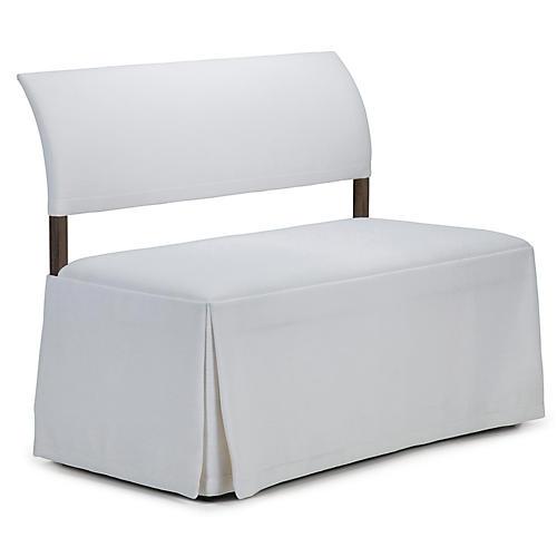 Jamie Mae Duo Bench, White