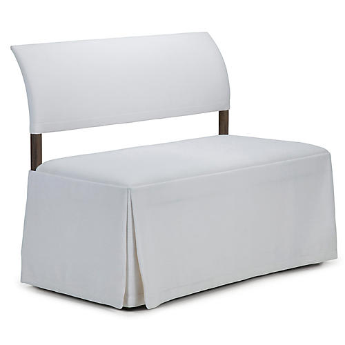 Jamie Mae Duo Bench, White