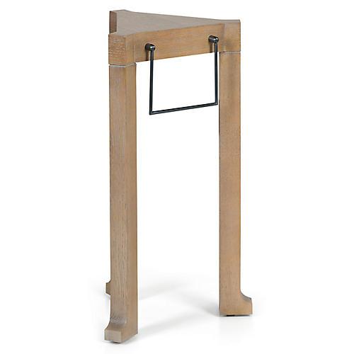 Trivet Side Table, Medium Oak