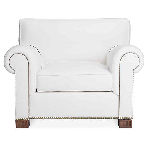 Jamaica II Chair, White Linen
