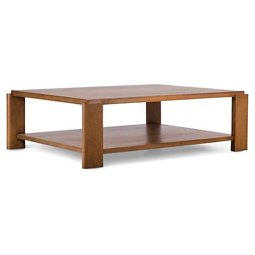 Laurel Coffee Table, Waxed Mahogany