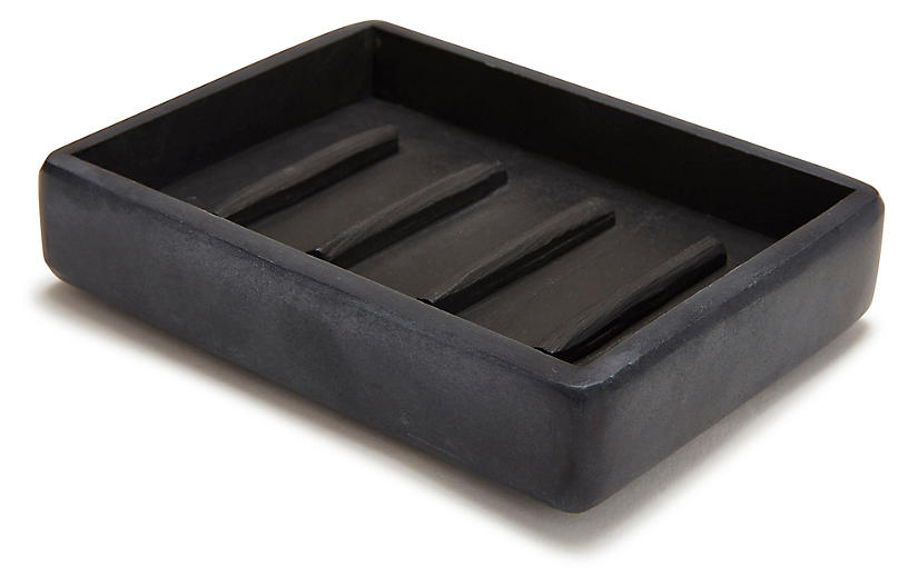 Noir Soap Dish, Black