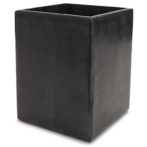 Noir Wastebasket, Black