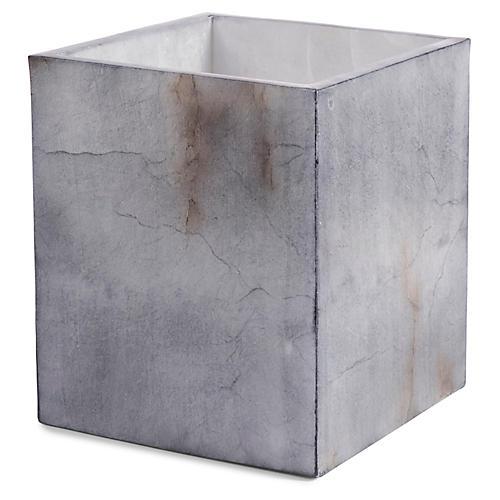 Alabaster Wastebasket, Gray