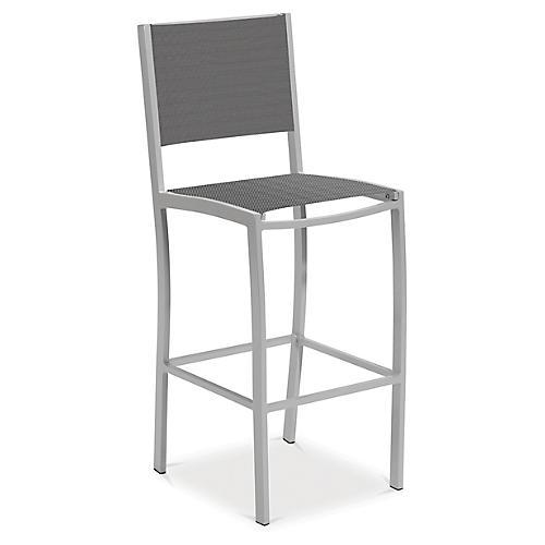 Travira Aluminum Barstool, Gray