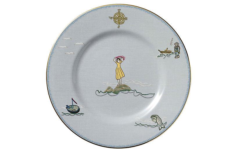 Sailor's Farewell Accent Plate, Blue/Multi