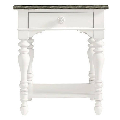 Retreat Side Table, Saltbox White