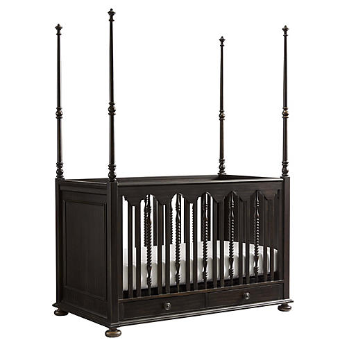 Smiling Hill Stationary Crib, Licorice