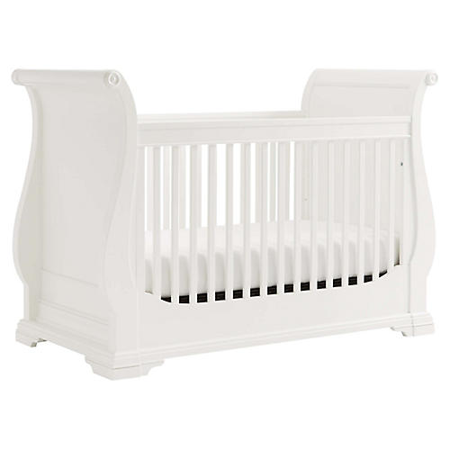 Teaberry Lane Stationary Crib, White