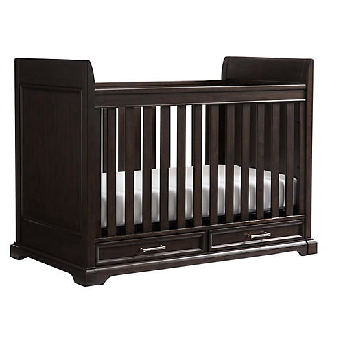 Chelsea Square Stationary Crib, Espresso