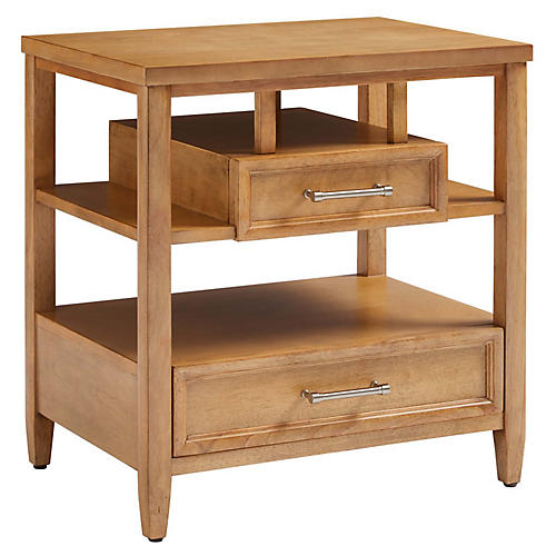 Chelsea Square Open Nightstand, Toast