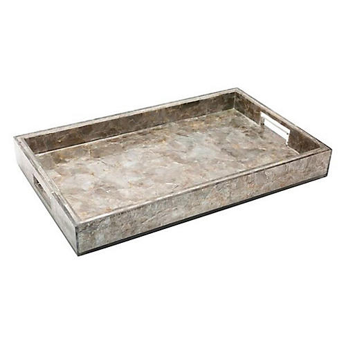 "23"" Concord Tray w/ Handles, Natural Mica"