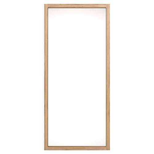 Oak Light Frame Floor Mirror, Brown