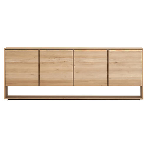 Nordic 4-Door Sideboard, Oak
