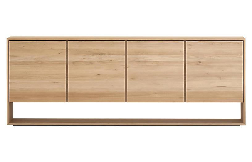 Nordic 4-Door Sideboard, Oak