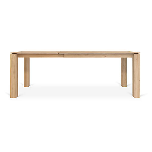 Slice Extension Dining Table, Oak