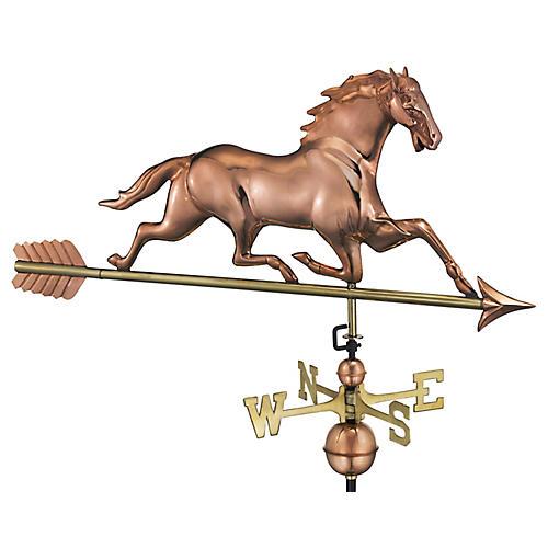 "36"" Horse & Arrow Weather Vane, Copper"