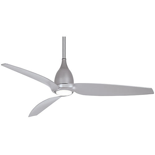 Tear LED Ceiling Fan, Silver