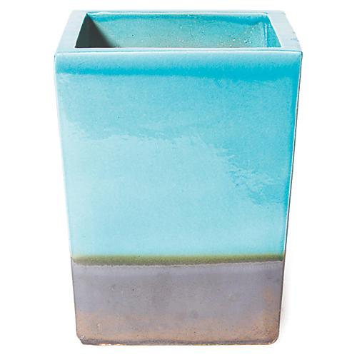 Cube Planter, Turquoise