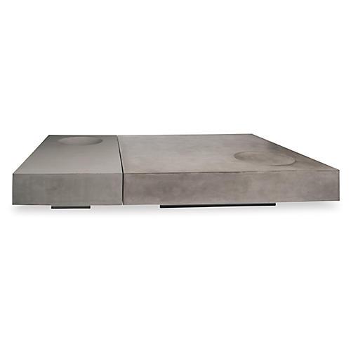 Twins Concrete Coffee Table, Gray