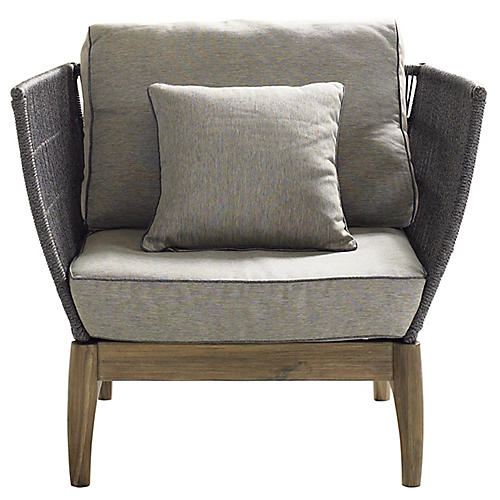 S/2 Wings Club Chairs, Gray